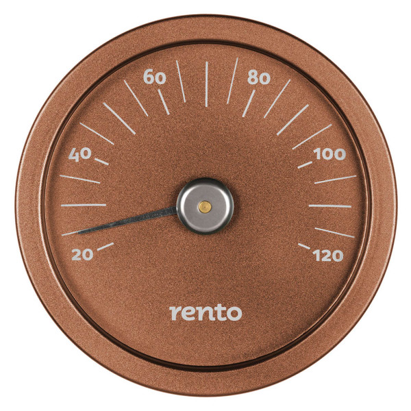 RENTO SAUNA THERMOMETER ALUMINIUM COPPER BROWN